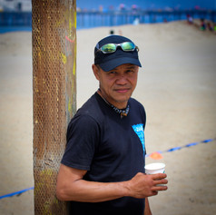 Co-Founder Ulrich Floresca posing with his coffee.