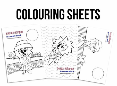 Free Penny Prickles colouring sheets!