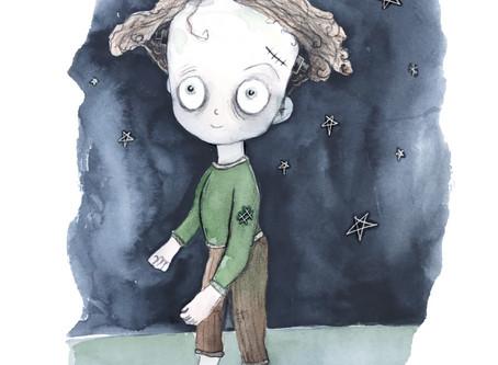 Little zombie boy - speed sketch in watercolour