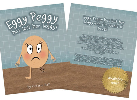 Eggy Peggy has lost her leggy! out now!
