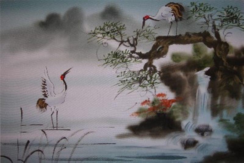 Vietnamese silk painting. Artist unknown. Victoria Hall art blog.
