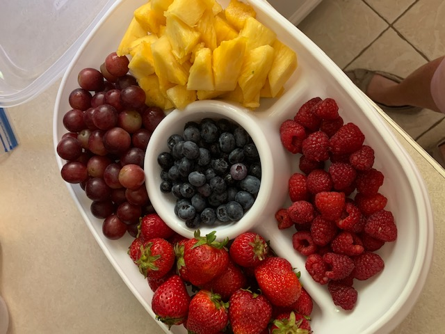Fruit Tray w/ cream cheese dip