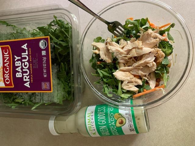 Arugula Salad + Green Goddess