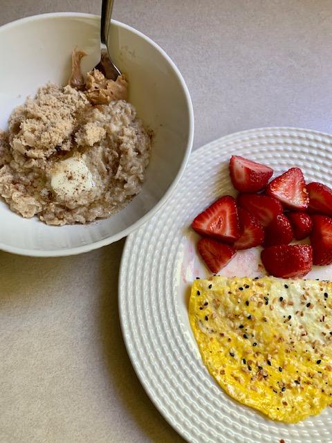 Oatmeal, Eggs, & Berries