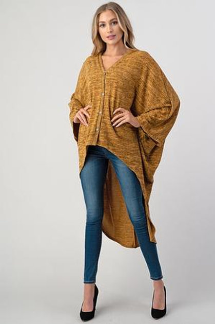 Poncho Sweater Top Gold