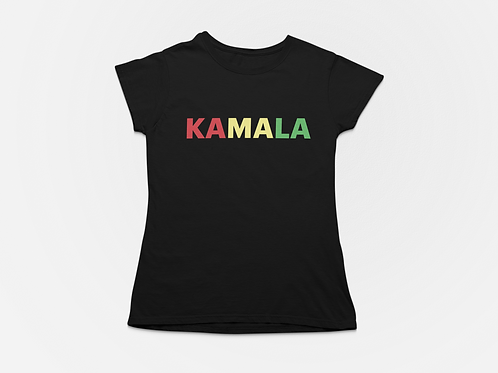 KAMALA Screen Print/Rhinestone T-shirt