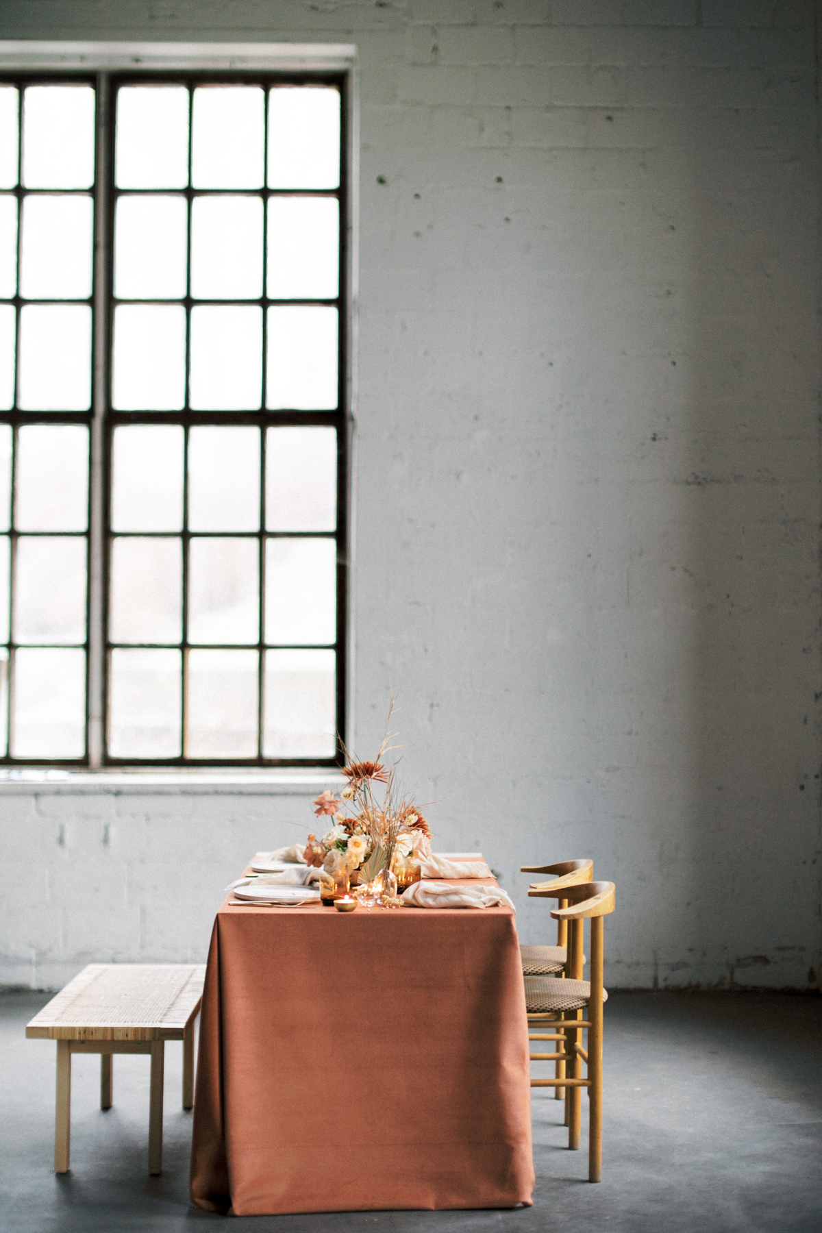 A contemporary loft wedding