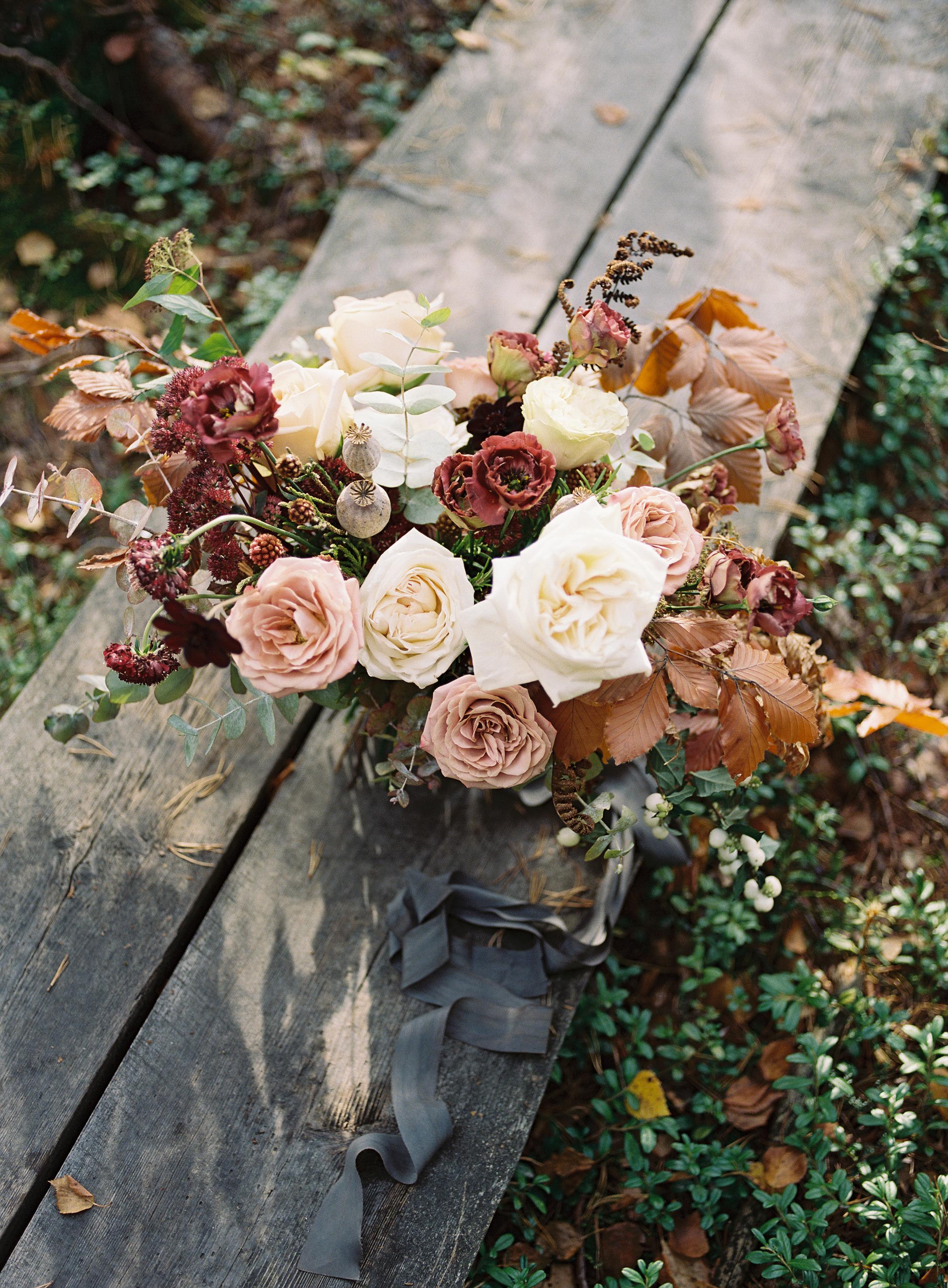 Fall wedding bouquet Europe