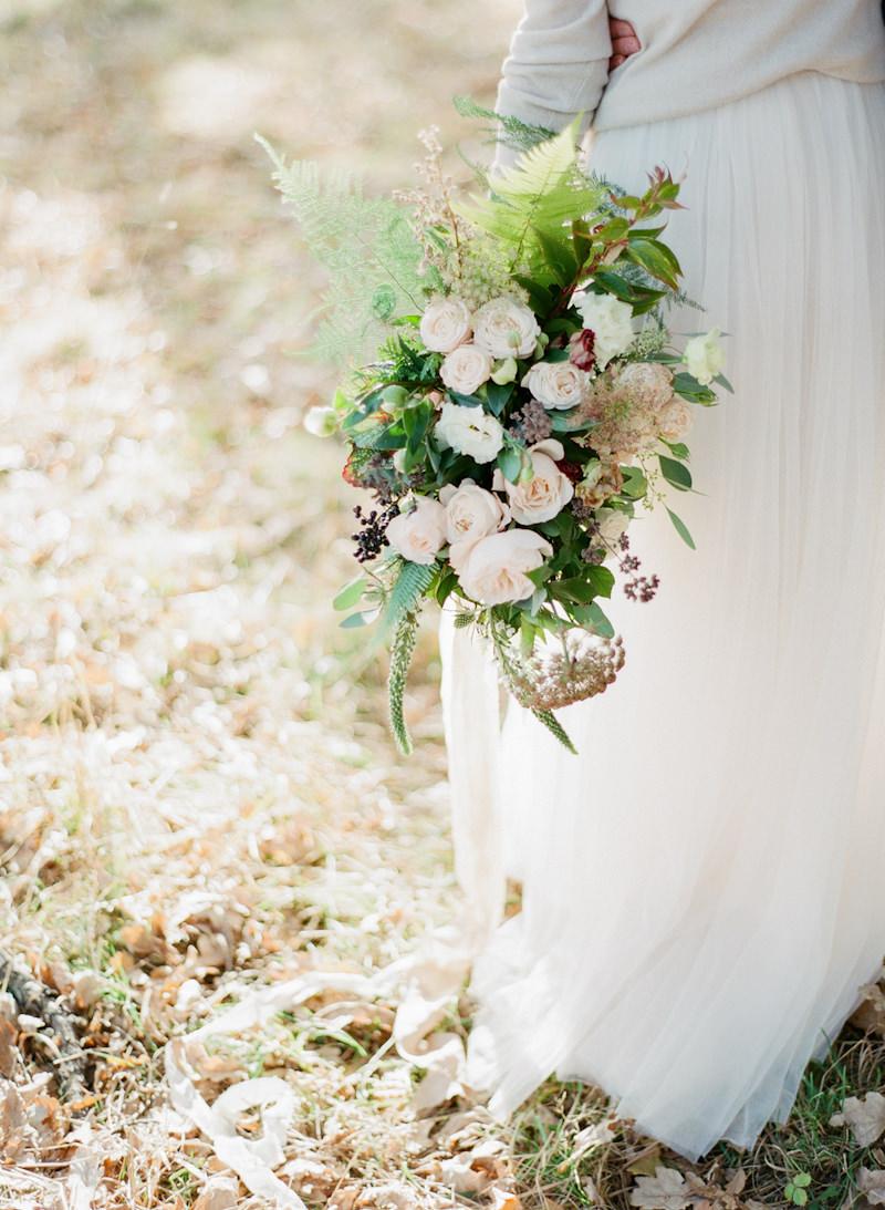 Organic winter wedding Finland