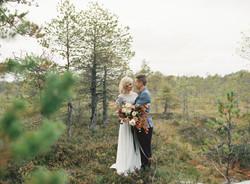Intimate fall destination wedding