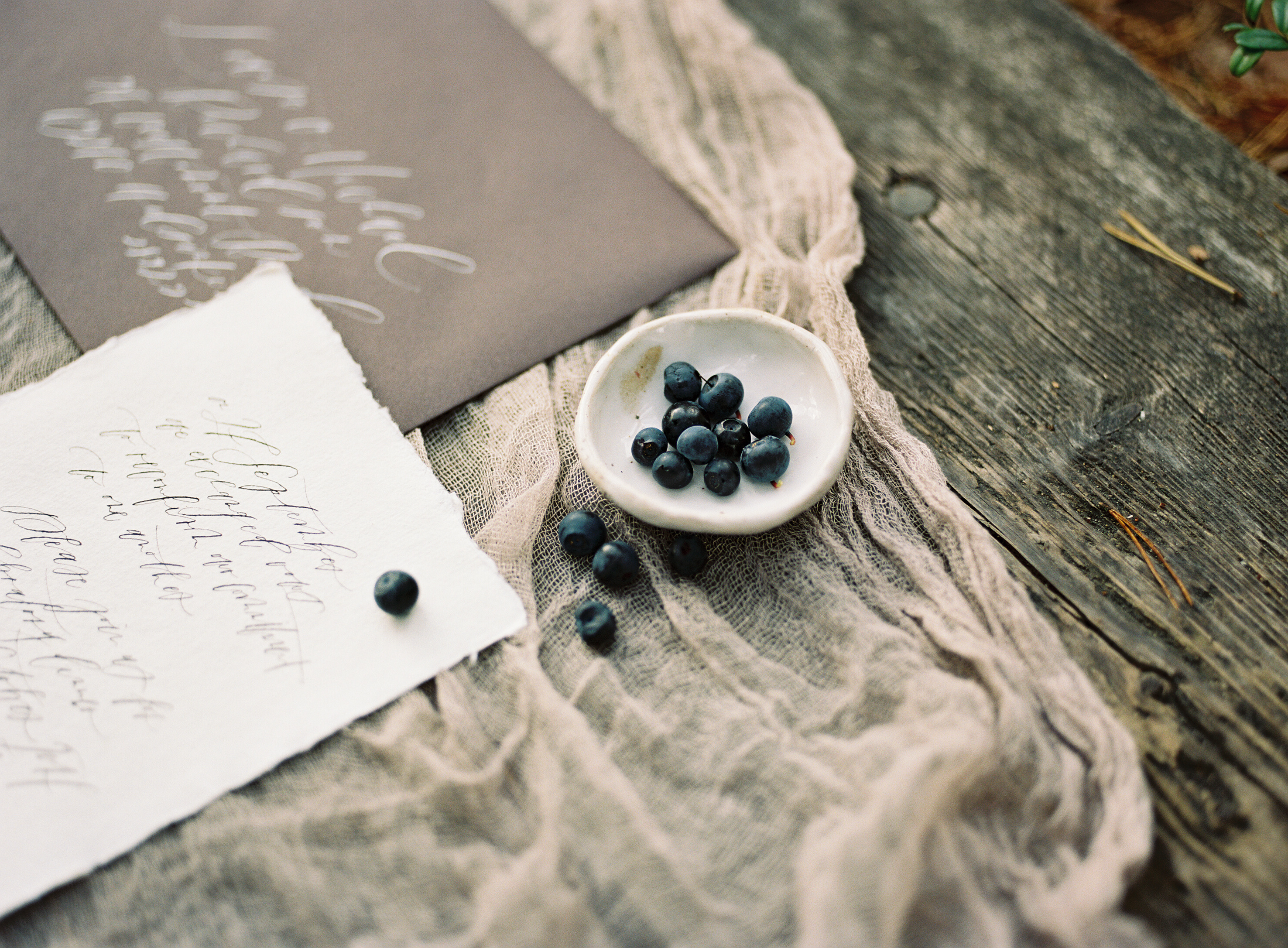 Organic autumn wedding planning