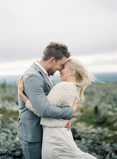 Lapland elopement | Wedding couple on a fell in Levi, Finland | Wedding planner Nord & Mae