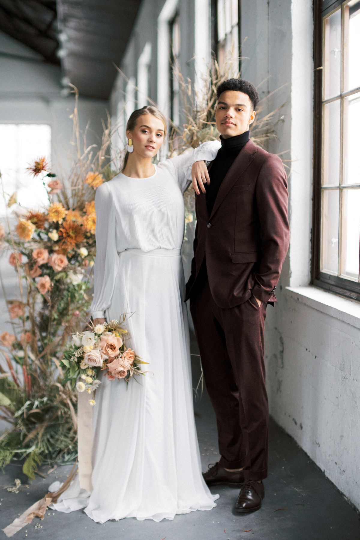 Modern loft wedding Sweden