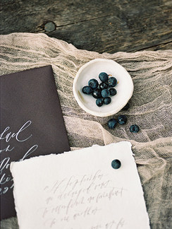 Organic wedding stationery   Wedding calligraphy   Nord & Mae
