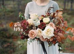 Autumn wedding bouquet Scandinavia