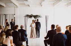 Minimalistic wedding ceremony design