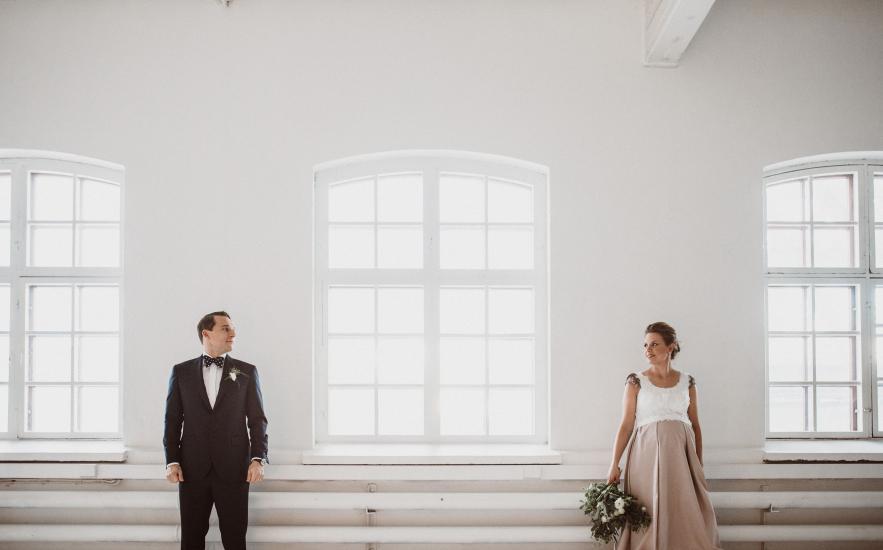 A loft winter wedding Helsinki