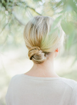 Simple bridal knot updo
