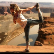 Hite dancer pose