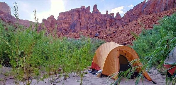 Camping on the Escalante River Grand Staircase-Escalante National Monument Utah