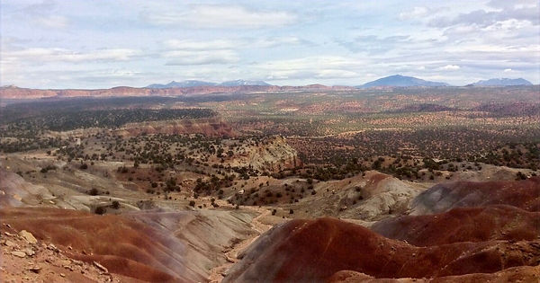 View from the Burr Trail overlooking Circle Cliffs Grand Staircase-Escalante National Monument Utah