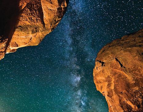 Milky Way over Devils Garden Dark Skies Grand Staircase-Escalante National Monument Utah