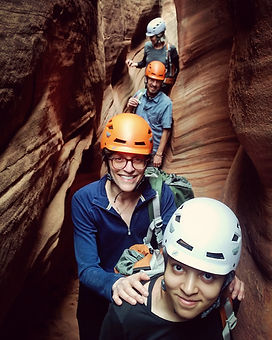 Guided slot canyon tour in Escalante
