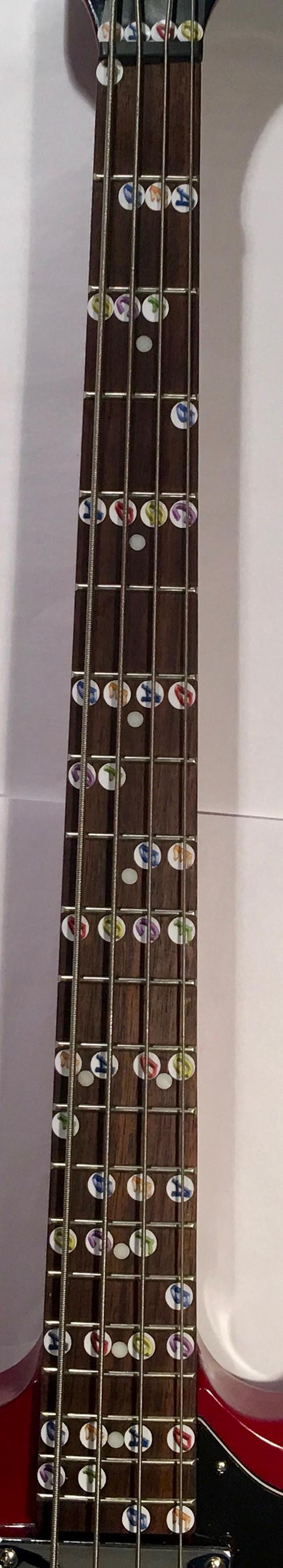 Instructional Fretboard Stickers For Bass Guitar Chalkboard