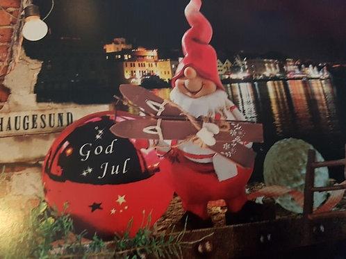 Julekort med motiv fra Haugesund