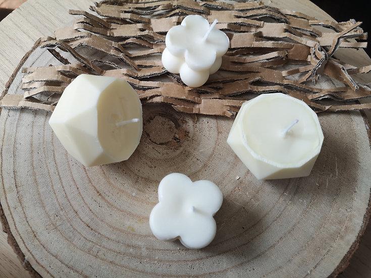 Bougie naturelle artisanale - sans OGM (modèle à bulles)
