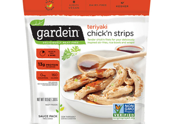 Filetes de pollo teriyaki (sucedáneo) - Teriyaki chick´n strips