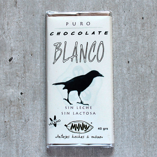 Chocolate blanco vegano
