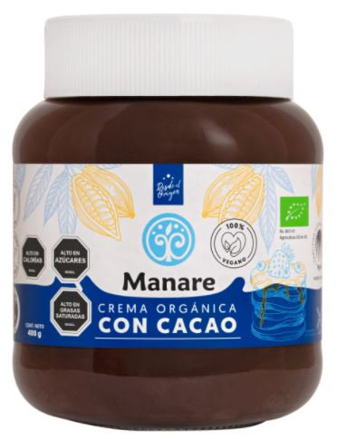 Crema orgánica con cacao 400g