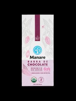 Chocolate Orgánico 62% cacao | Sin azúcar