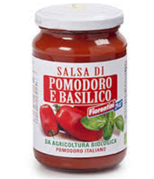 Salsa de tomates y albahaca orgánica 340g