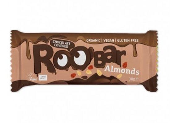 Barra de almendra cubierta con chocolate
