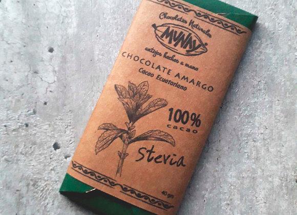 Chocolate 100% cacao con Stevia