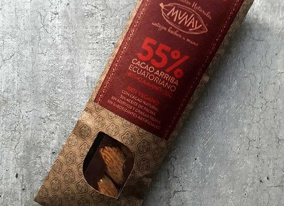 Chocolate 55% Cacao con almendras