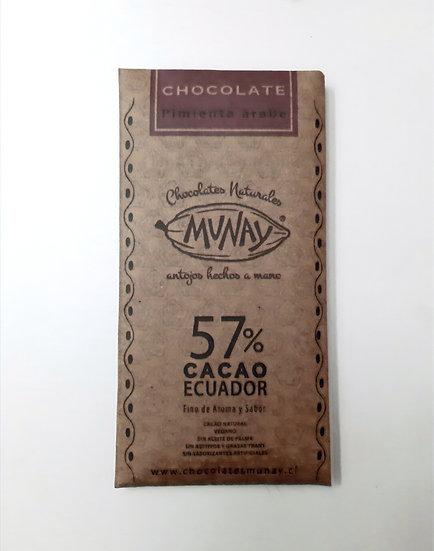 Chocolate 57% cacao con pimienta árabe