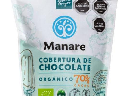 Cobertura de chocolate orgánico 70% cacao 400g