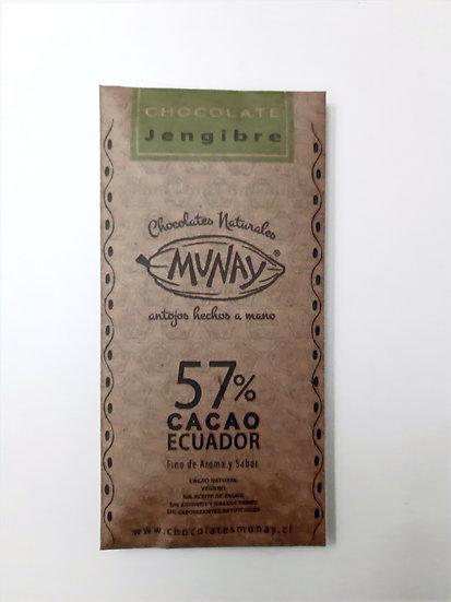 Chocolate 55% cacao con jengibre