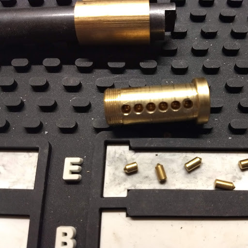 Core and bottom pins removed