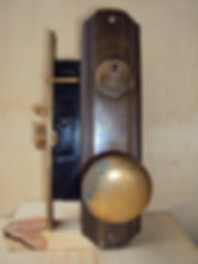old residential mortise lock and trim (6