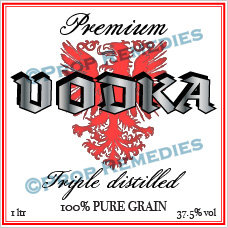 Vodka 1 bottle Label