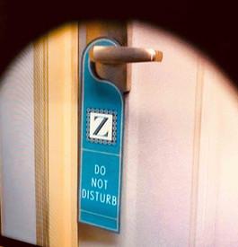 Hotel door hanger