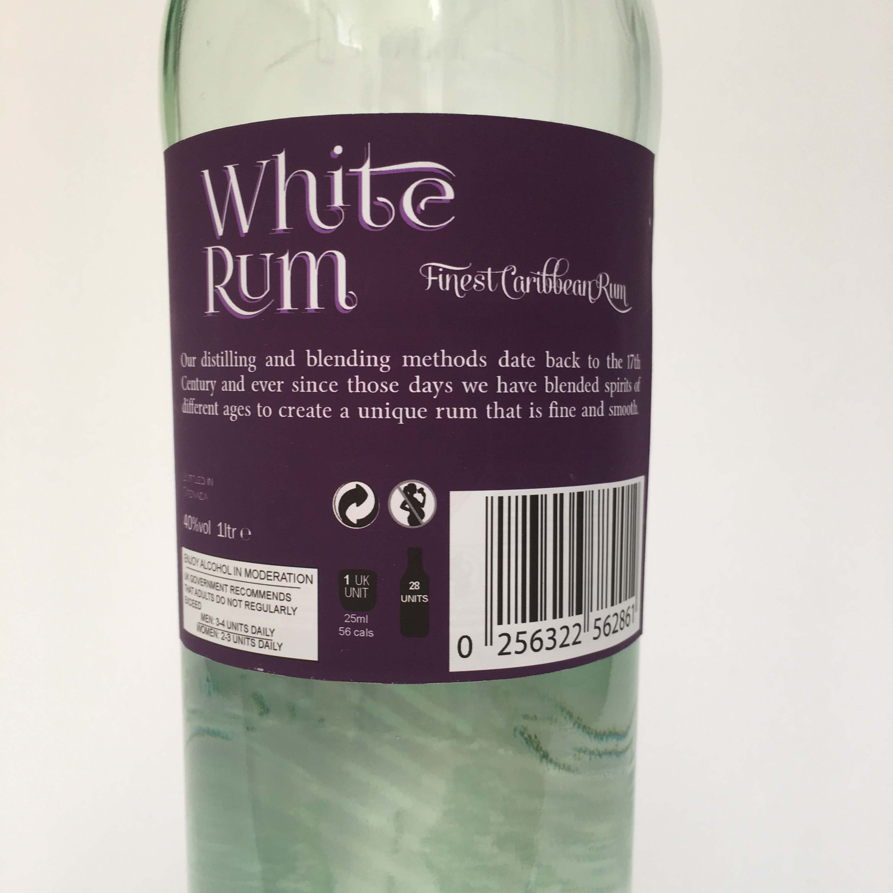 White Rum bottle Label | Graphic Prop Remedies