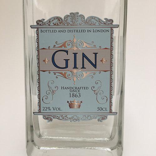 Gin - Blue Bottle label  - A4 digital Print file