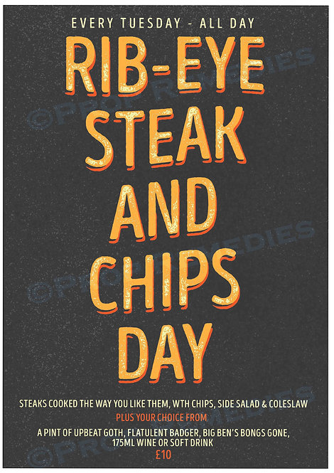 Steak Day Poster