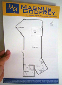 Estate agents floor plan