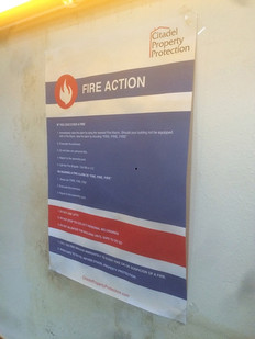 Fire Action Notice dressing
